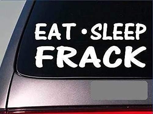 CELYCASY Eat Sleep Frack StickerG886 - Trapano per Olio in Vinile, 20 cm