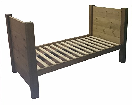 HANDMADE CHUNKY REDWOOD PINE WOOD SINGLE TRUNDLE DAY BED FRAME