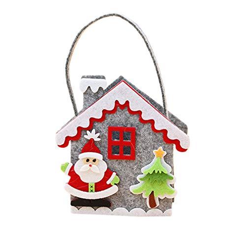 L_shop Cartoon Tasche Hirsch Schneemann Old Man Candy Bag Schöne Muster Aufbewahrungstasche Weihnachtsdekoration für s n, Wie es Beschreibung ist, Alter Mann - Man Wie Schneemann Einen