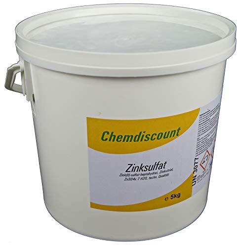 Chemdiscount 5kg Zinksulfat ZnSO4 Zinkvitriol (-Heptahydrat)