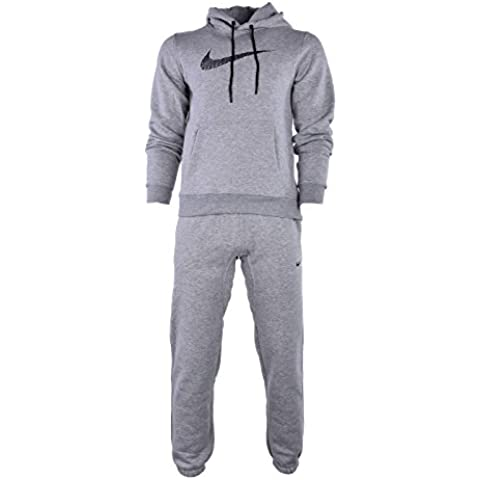 Nike Negro De Hombre 679387 Chándal Completo - Gris, Large