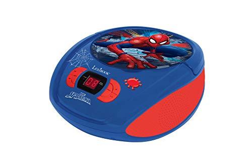 Spider-man lexibook rcd108sp - lettore radio cd, radio fm, corrente o batterie, presa cuffie, ingresso line-in, blu/rosso