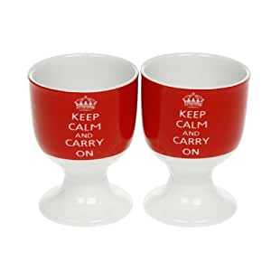 Keep Calm And Carry On - Egg Cups