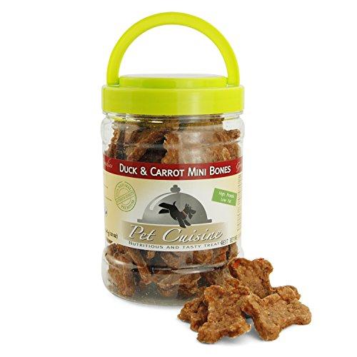 Pet Cuisine Hundeleckerli Snacks Dörrfleisch, Knochenförmige Ente & Karotte Hundekuchen, 340g