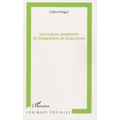 Exclusion Insertion et Formation en Questions (Logiques sociales)
