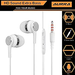 Xiaomi Mi MIX Nano Compatible Wired Headphone/Earphone In-Ear Earphones With Mic Super HD Bass Stereo for all Smartphones by aurra