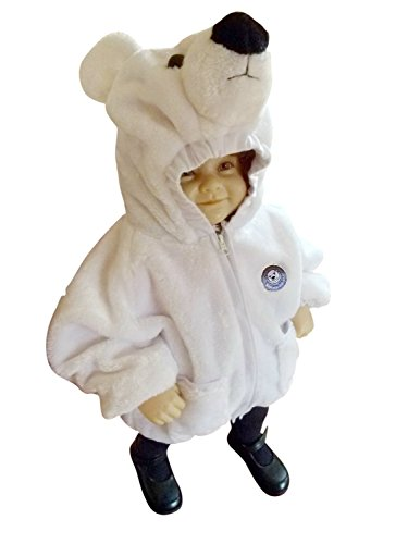 Seruna F87/00 Gr. 86-92 Eisbär Kinderjacke Kostüm für Fasching und Karneval, für Baby Babies Kleinkinder, Faschingskostüm, - Polar Bär Baby Kostüm