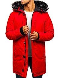 BOLF Herren Winterjacke Parka Jacke Kapuzenjacke Zip Casual Style 4D4 4e73ce0cc9
