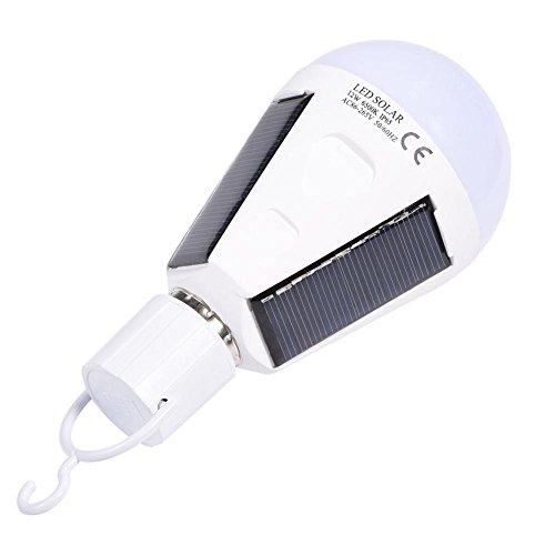 Descripción: Las bombillas de emergencia pueden ayudarte a andar a tientas en la oscuridad, como llevar velas o leña. Trae demasiados inconvenientes, por lo que es necesario tener una bombilla de luz solar más conveniente y mejor. Esta es una bombill...