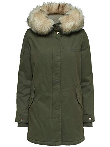 Only Onlmay Fur Canvas Parka Otw, Mujer