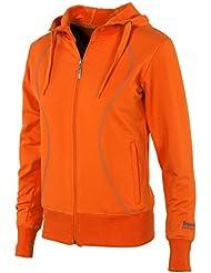 Stanno - Chaqueta con capucha para mujer (con cremallera), color naranja, color naranja - naranja, tamaño xx-large