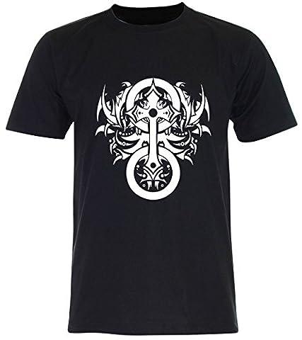 PALLAS Unisex's Cross Symbols T Shirt -PA229 (Black , 2XL)