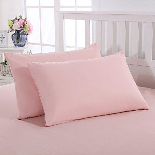 Fundas almohada cama par microfibra rosa 50x75 cm