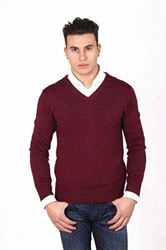 Versace 19.69 Abbigliamento Sportivo Srl Milano Italia Versace 19.69 Abbigliamento Sportivo Milano mens V neck sweater 9801 SCOLLO V BORDEAUX BORDEAUX Bordeaux