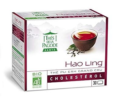 Thé Hao Ling Bio par Thés de La pagode?Thé pu-erh grand cru - Boîte 30 infusettes?Régule le cholestérol