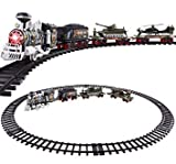 #4: Hobnot Battery Operated Miliatry Train with Artificial Smoke/Light and Sound and 2 Mini Miniatures Commanders