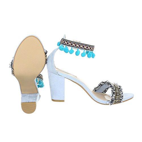 Ital-design - Chaussures Plateforme Donna Hellblau