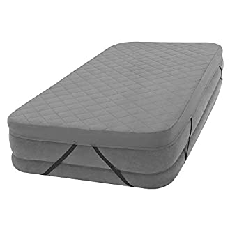 Intex Queen Size Fitted Sheet for Airbeds 152 x 203 x 10 cm, polyester, Grey, 152 x 203 x 10cms