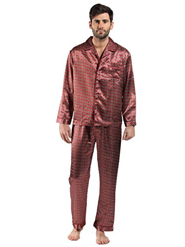 Harvey James Herren Schlafanzug Rot - Maroon