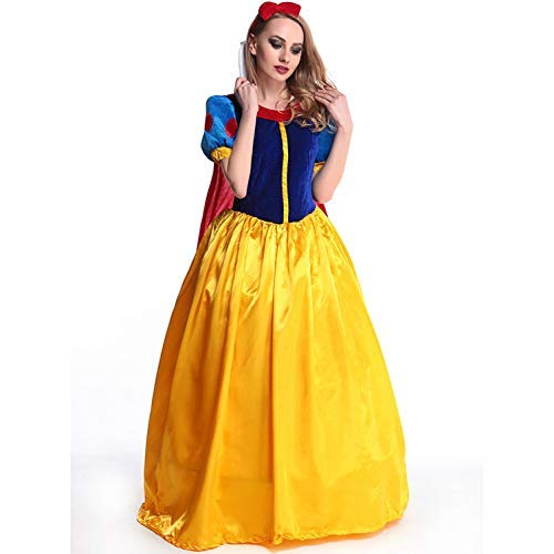 SEEKSUNG Adult Sexy Cape Snow White Kostüm, Womens Wear, Halloween Women es Wear, Role Playing Game Uniform (Blonde Zöpfe Kostüm)