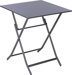 klapptisch 60x60cm beistelltisch gartentisch partytisch balkontisch campingtisch metalltisch. Black Bedroom Furniture Sets. Home Design Ideas
