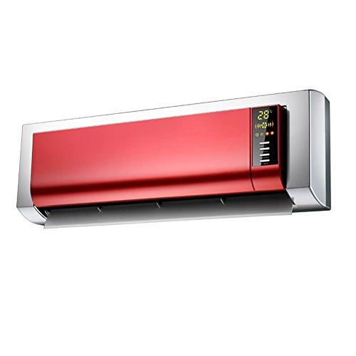 Radiateurs électriques YIXINY KPT-2503L Télécommande Tenture Murale Écran LCD Numérique Chauffage Céramique PTC 2200W Rouge