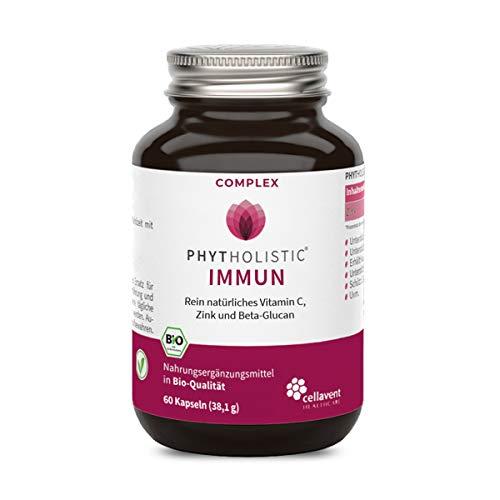 BIO Immun Complex von Phytholistic: einzigartige Zusammensetzung aus Vitamin C, Zink und Beta-Glucan (Betox 93) in pharmazeutischer Qualität - 60 Kapseln -