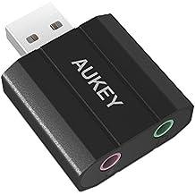 AUKEY Scheda Audio Esterna USB a 3.5mm Audio jack in lega d