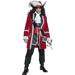 Traje de capitán pirata hombre, M.