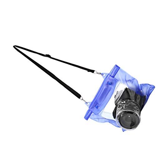Wasserdichte Kameratasche DSLR SLR Kamera Unterwasserlagerung Dry Bag transparenter PVC-Beutel Blau ()