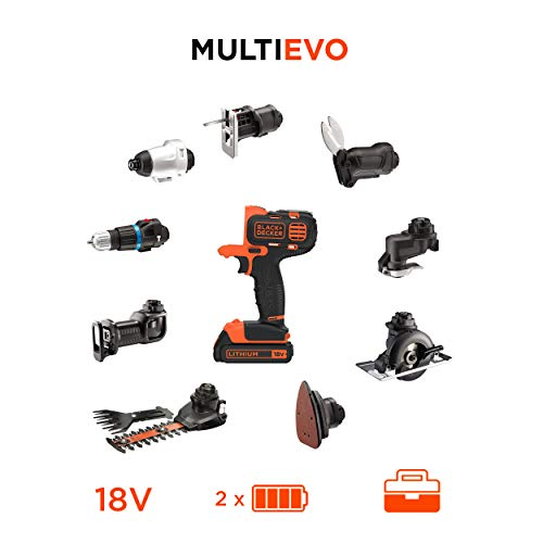 BLACK+DECKER MT218KB-QW Perceuse visseuse Multievo - Outil...