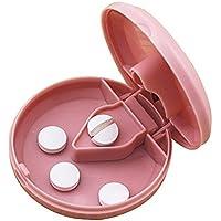 MAXGOODS Runden Design Pill Cutter Splitter Lagerung Fach Box Medizin Fall Halter(Rosa) preisvergleich bei billige-tabletten.eu