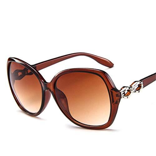 DAIYSNAFDN Classic Gradient Übergroße Sonnenbrille Frauen Vintage Damen Sonnenbrille Uv400 Tea