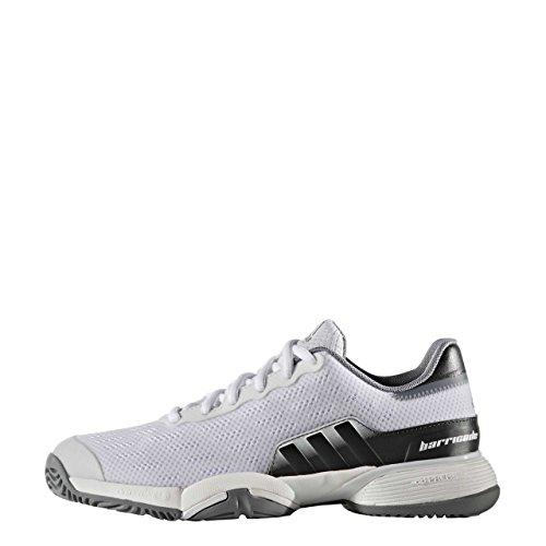 adidas Barricade 2016 Xj, Chaussures de Tennis Mixte Enfant Blanc Cassé (Ftwbla/grpudg/gris)
