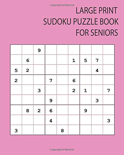 Large Print Sudoku Puzzle Books for Seniors: 16 Games for Sudoku Puzzles Easy to Hard One puzzle per page with your room to work and thinking match brain training for Adults