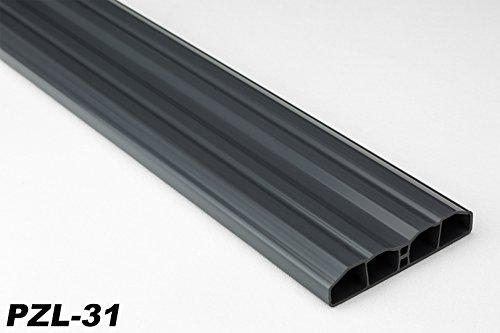 40 Meter PVC Zaunlatten Kunststoff Profile Bretter Gartenzaun 80x16mm, PZL-31