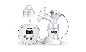 Tiralatte Elettrico Pompe per l'allattamento al Seno con Display LCD Touchscreen Massaggio Modalità Doppia Design Antiriflusso BPA Gratuito Pompa di Aspirazione