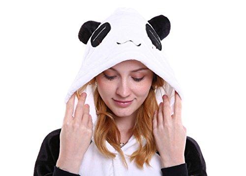 Imagen de tuopuda kigurumi pijamas unisexo adulto traje disfraz adulto animal pyjamas cosplay animales de vestuario ropa de dormir halloween y navidad s  147 157 cm height , panda negro  alternativa
