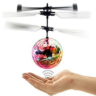 Wiiguda@Toys Flying Ball Flying Toys Helicopter Sensing Induction With Built-in Color Emitting LED Lights For Kids And Teenagers, Nice for Kids