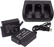 Gopro hero 5 battery 2X1220mAh bateria hero5 Gopro5 battery + 3-way charger Gopro Go Pro Hero5 HERO 5 camera accessories
