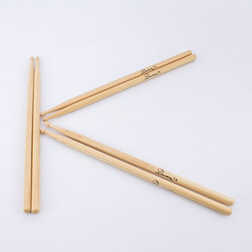 3-paar-drumsticks-hickory-perch-skin-set-aus-hickory-7a-natur-drumstick-set-mit-6-walnuss-stocke-3er