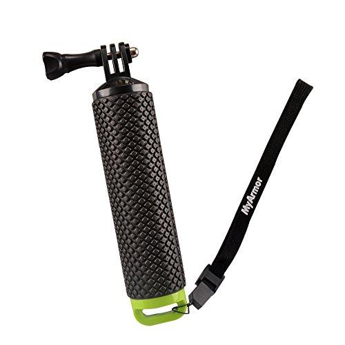 myarmor Wasserdicht Schwimmende Hand Grip Stativ Stick für die GoPro Hero 5/GoPro Hero 3+ 4Session 3–Griff Halterung Zubehör und Wasser Sport Pole für geekpro 3.0und ASX Action Pro Kameras Action Kamera Zubehör, grün