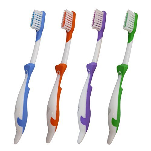 4 Brosses à dents pour enfants ~ Lot de 4 brosses manuelles (Dauphin)