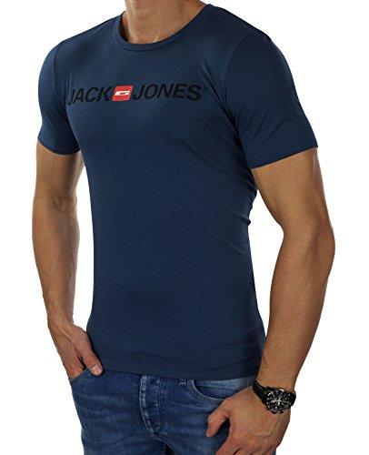 JACK & JONES Herren T-Shirt jorTHE LOGO Tee Shirt Print Rundhals Slim Fit