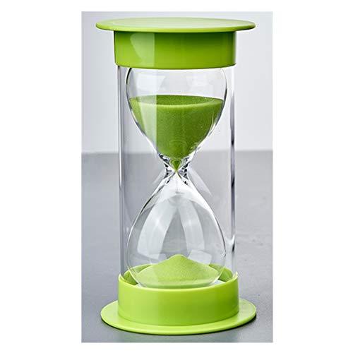 Zeiger Sand Timer Sanduhr mit Schutz für Küchen-Timer und die Zeit zu 5Minuten 10Min 30min 45min, 60min 30 Minutes grün