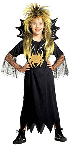 Kinder-Kostüm-Set Kleine Spinnenfrau, Größe (Frau Kind Spider Kostüm)
