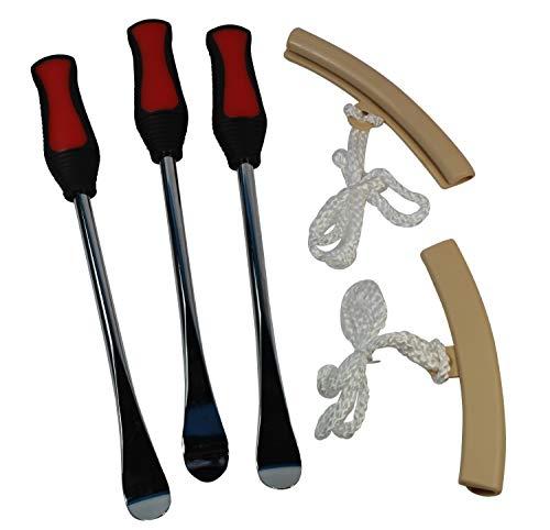 Reifenmontierhebel Set 3x Reifen Montiereisen Hebel mit Griff + 2x Felgenschoner -