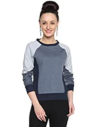 Campus Sutra Denim Women's cotton Combination Sweatshirt