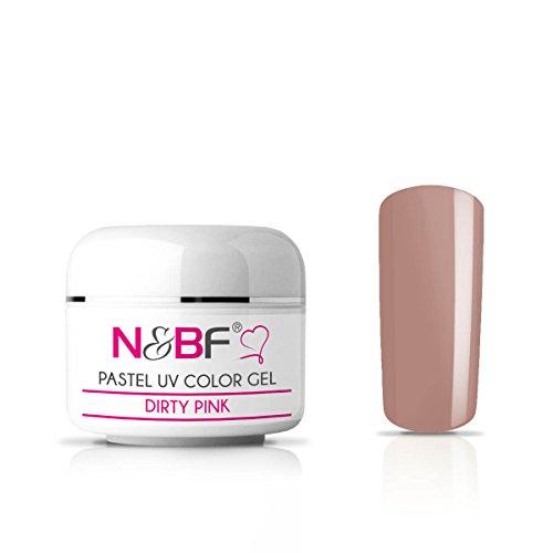 N&BF Pastell Farbgel Dirty Pink (Beige) – UV Gel – Color-Gel – Nagelgel für Gelnägel Nägel...