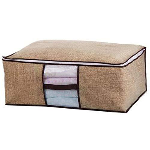 HUILIN Kleidungs-Trenner Organizer Quilt-Taschen-Halter Organizer Reise-Aufbewahrungspaket Vlies-Familie sparen Platz Bett unter dem Kleiderschrank, gelb, Large -